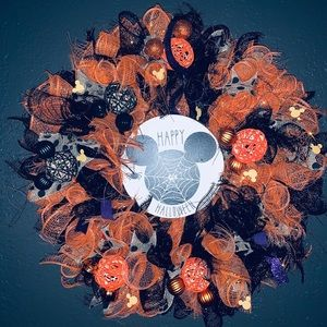 Mickey Mouse Halloween Wreath